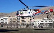 اعزام یک بیمار با استفاده از بالگرد به شیراز