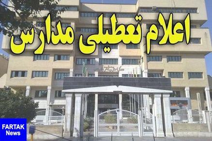 مدارس بخش «نوک آبادـ» شهرستان خاش فردا تعطیل اعلام شد