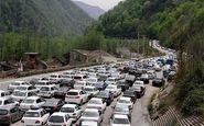 جمعه 28 شهریور/ترافیک سنگین در محور کرج - چالوس