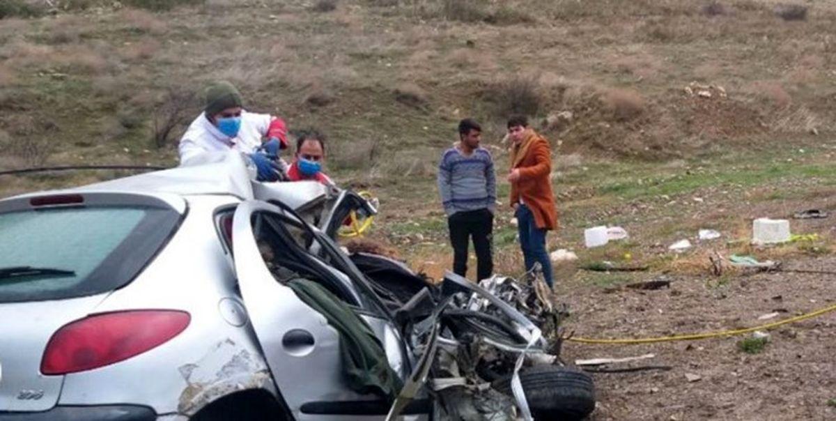 ۹ کشته و زخمی در انحراف و واژگونی خودرو پژو پارس