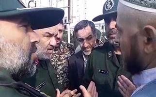 حضور سردار سلامی در شهرستان سیل زده آق قلا + فیلم