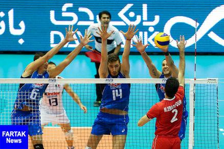 شروع قدرتمندانه والیبال ایران در لیگ ملتها با شکست ایتالیا