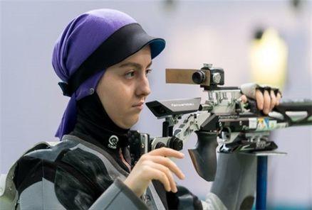 آرمینا صادقیان ملی پوش ایلامی  در تفنگ بادی سهمیه المپیک را کسب کرد