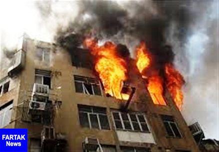 آتش سوزی مجتمع رفاهی بانک مرکزی در نوشهر یک کشته داد