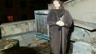 زنی پس از قتل شوهرش اورا در پشت بام آتش زد!