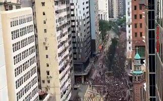 تایم لپس از تظاهرات صدها هزار نفری در هنگ کنگ
