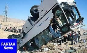 مصدومیت ۴۲ نفر بر اثر واژگونی اتوبوس