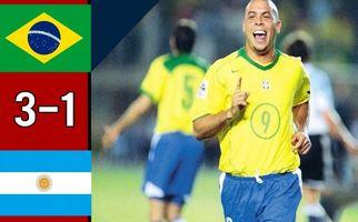 دیدار خاطره انگیز برزیل 3 - آرژانتین 1 (دوستانه 2004) + فیلم