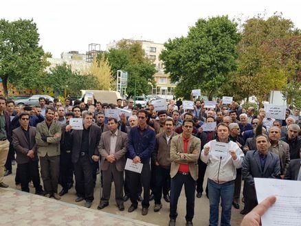اعتراض صنفی معلمان همدان+ عکس