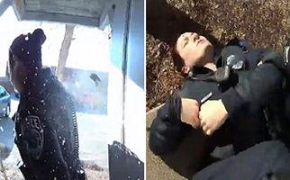 شلیک مامور پلیس آمریکایی به همکار خود + فیلم