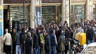 صفهای طولانی خرید ارز در خیابان فردوسی