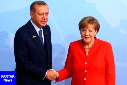در تماسی تلفنی؛ اردوغان و مرکل رایزنی کردند