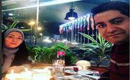 جشن تولد جمع و جور آزاده نامداری برای همسرش + عکس