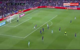 گل اول رئال بتیس به بارسلونا (نبیل فکیر)