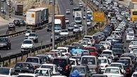 ترافیک نیمه سنگین در ورودی های تهران