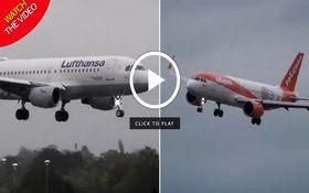 مهارت خلبان در فرود هواپیما حین وقوع طوفان! + فیلم