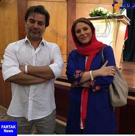 همسر سابق مجری مشهور در کنار بازیگر و نویسنده پر طرفدار+ عکس
