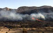 آتش سوزی در ارتفاعات برناج کرمانشاه همچنان ادامه دارد
