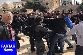 یورش نیروهای پلیس رژیم صهیونیستی به مسجد الاقصی