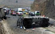 واژگونی اتوبوس در شهرستان پاسارگاد