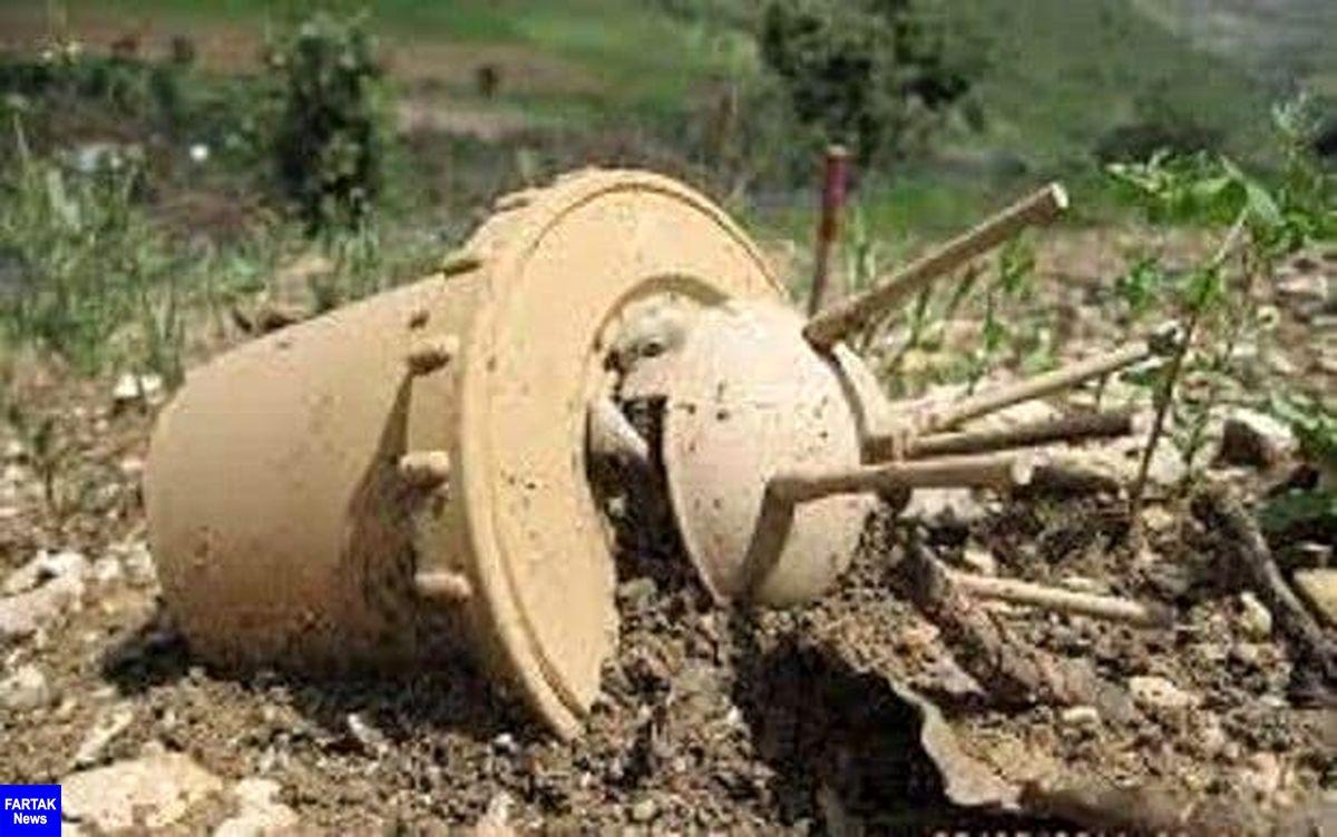 کشف خمپاره جنگی در شهرک جعفرآباد کرمانشاه