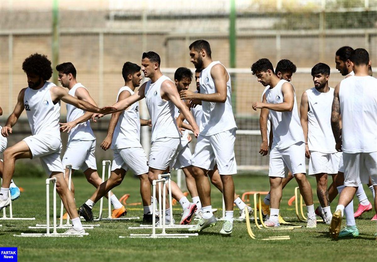 گزارش تمرین استقلال در غیاب سه بازیکن