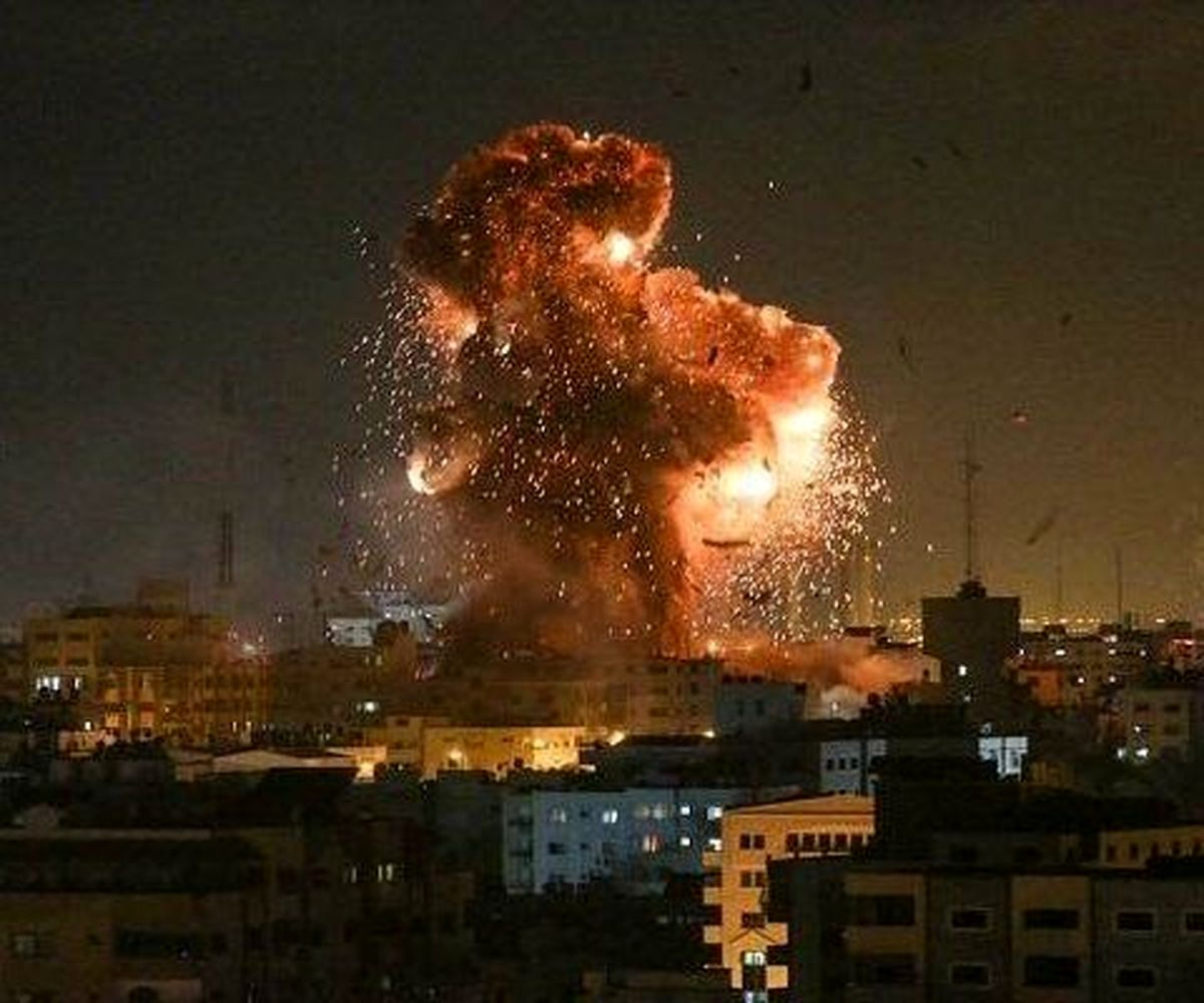 رژیم صهیونیستی به نوار غزه حمله کرد