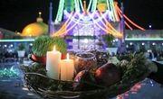 مراسم سال تحویل در حرم بانوی کرامت برگزار شد