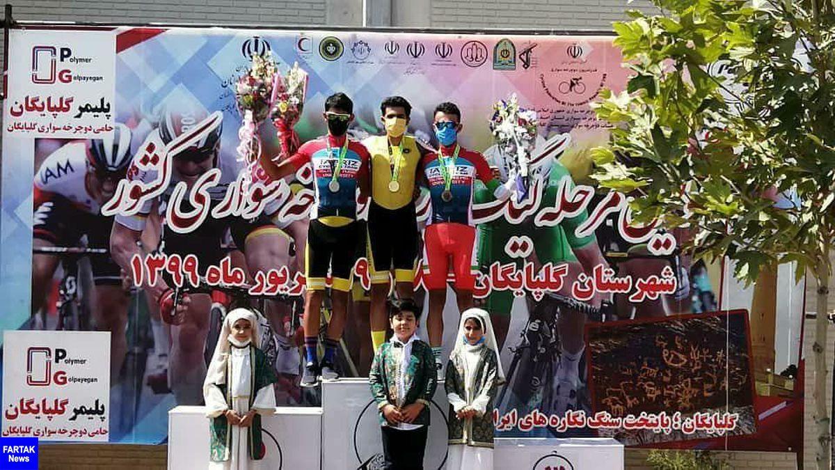 قهرمانی رکابزنان سپاهان در نخستین مرحله لیگ برتر دوچرخه سواری کشور
