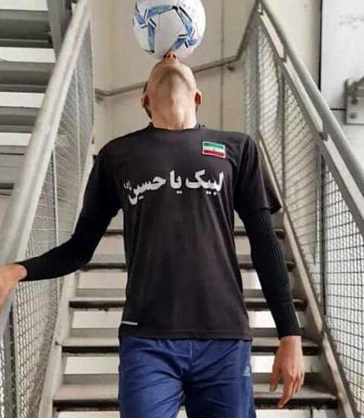 فوتبالیست ایرانی رکورددار برج میلاد شد + عکس