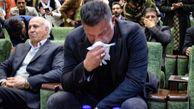 علی دایی اسوره فوتبال در حال سخنرانی برای مردم زلزلهزده سرپلذهاب در کرمانشاه گریست