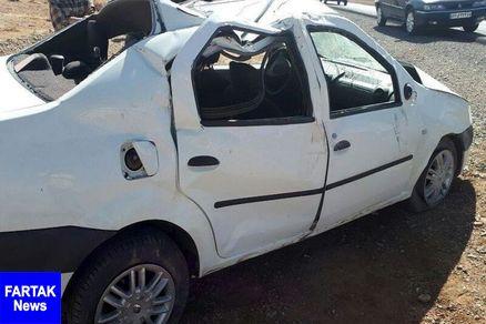واژگونی خودرو در نجف آباد ۲ کشته برجا گذاشت