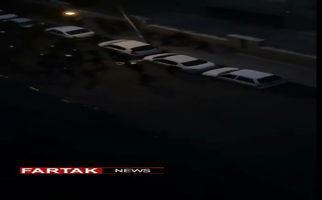 ویدئوی جدیدی از حمله اتوبوس  امروز تهران و کشته شدن سه مامور ناجا
