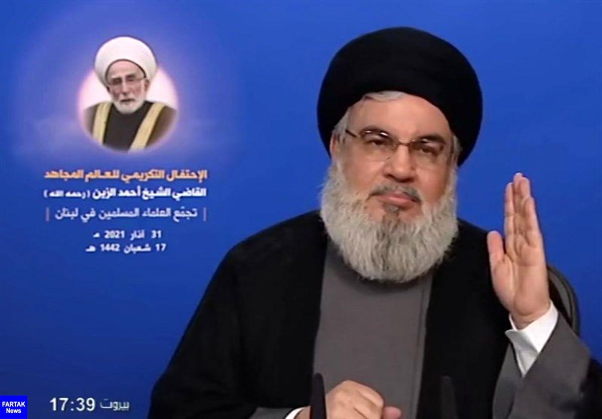 سید حسن نصرالله: تاکید آمریکا بر دیپلماسی با تهران به دلیل قدرت رو به رشد ایران است