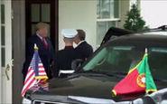 دست دادن عجیب رئیس جمهور پرتغال با ترامپ