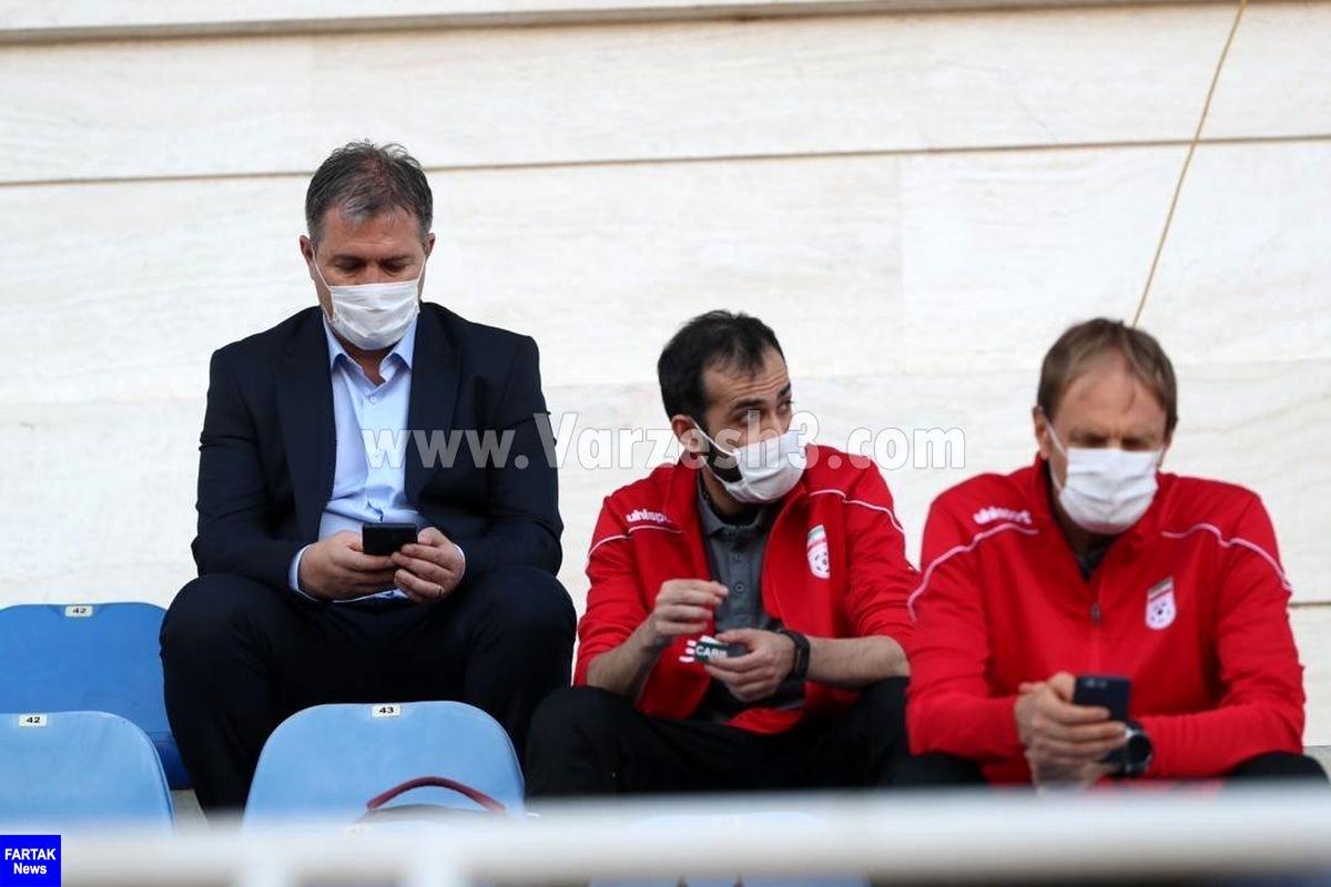 اعضای کادرفنی تیم ملی فوتبال به تماشای فینال حذفی نشستند