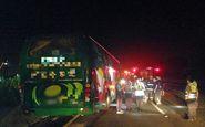 57 کشته و مصدوم در تصادف کامیون و اتوبوس