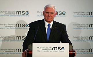 ضایع شدن مایک پنس در کنفرانس امنیتی مونیخ + فیلم