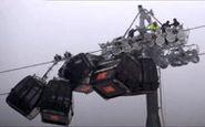 تصادف ۵ اتاقک تلهکابین در اتریش