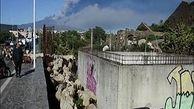 فوران گدازه و خاکستر آتشفشان اتنا در سیسیل ایتالیا + فیلم