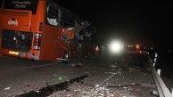 برخورد اتوبوس با تیر چراغ برق در نظرآباد یک کشته بر جای گذاشت