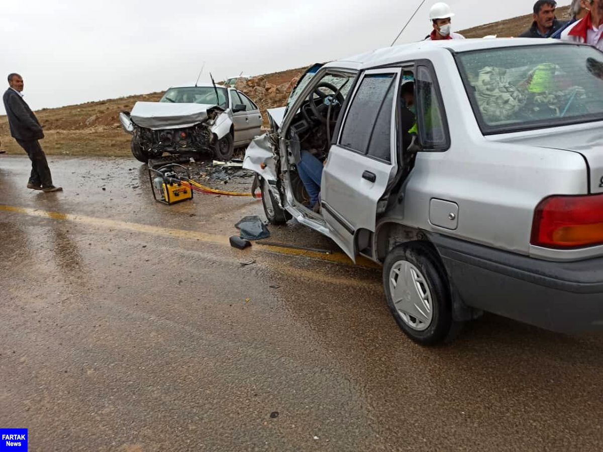 تصادف زنجیره ای در آزادراه کرج - قزوین