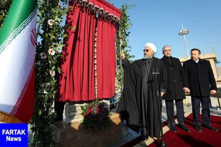 تصفیه خانه هفتم آب تهران با حضور رییس جمهوری افتتاح شد