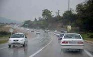 بارش باران در جادههای ۱۶ استان/تردد روان در محورهای شمالی