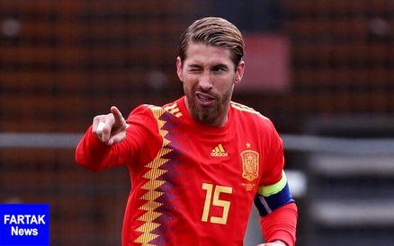 راموس، رکورددار جدید تیم ملی اسپانیا