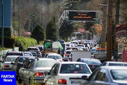 جمعه 18 مرداد| ترافیک سنگین در ابتدای جاده چالوس