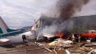 اکثر سرنشینان یک هواپیما در روسیه پس از سقوط بهطور معجزه آسایی زنده ماندند
