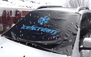 شیشه خودرویتان را از یخ زدن محافظت کنید +فیلم