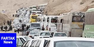 ترافیک پرحجم در محورهای مرزی اربعین
