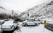 برف و باران در محور های مواصلاتی ۴ استان